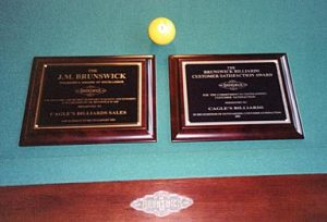 Cagle's Billiards awards