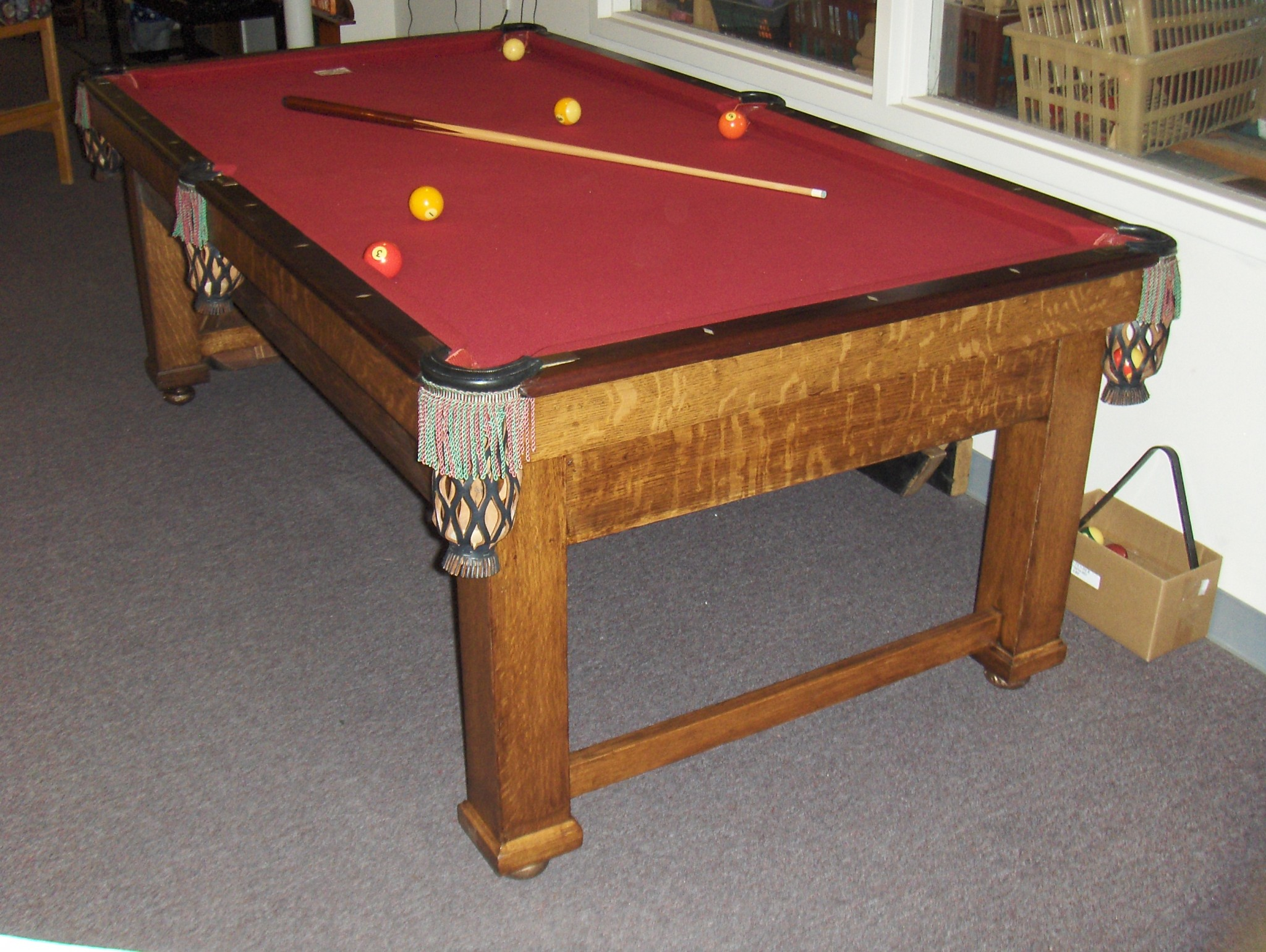 Brunswick X Parlor Table Cagles Billiards - 3 1 2 x 7 pool table